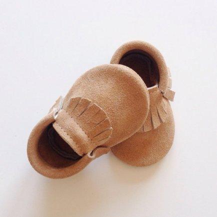 Mocassins bébé taupe