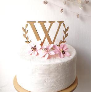 Topper cake en bois