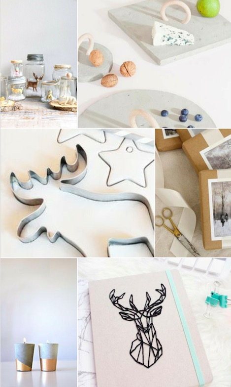 moodboard DIY Noël - consommer autrement