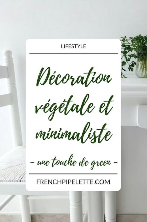 Décoration végétale et minimaliste