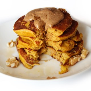 Paleo Pumpkin Protein Pancakes for One