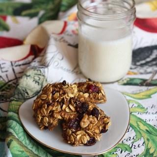 Zucchini Oat Breakfast Cookies