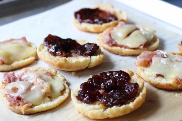 Fig and PIg Biscuits: Prosciutto, cheddar and fig jam made these delectable breakfast sandwiches a meal to remember.