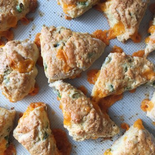 Cheddar, Jalapeno and Scallion Scones (Lactose Free!)