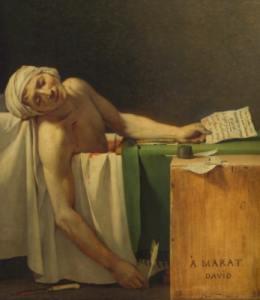 Assassination of Jean-Paul Marat.