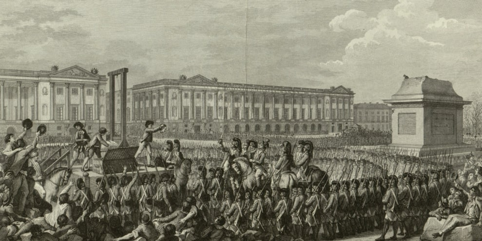 The execution of the last king of the Bourbon dynasty.