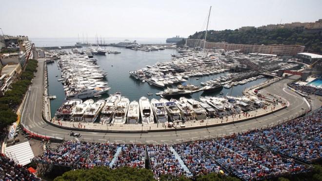 Yachts in the Port of Monaco for the Monaco Grand Prix
