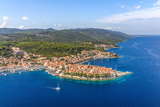 The Island of Korcula in Croatia