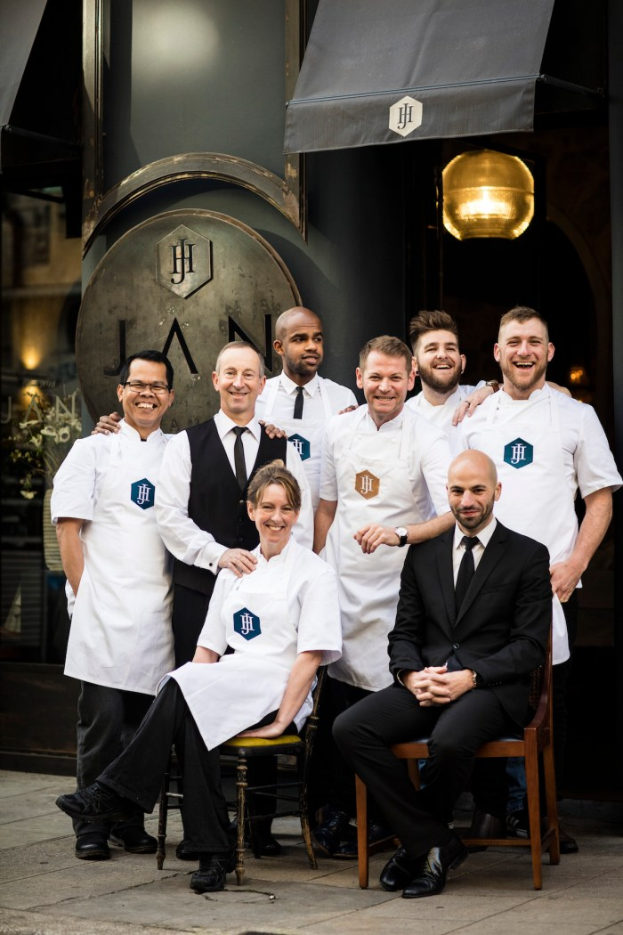 The team at restaurant JAN in Nice, France