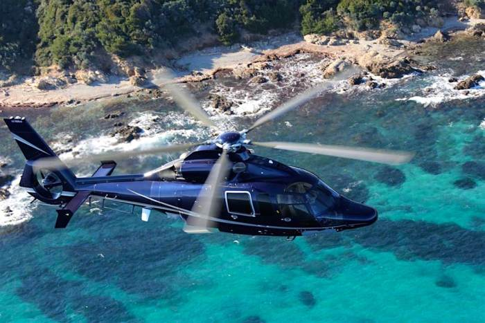 Helicopter in Saint Tropez, France