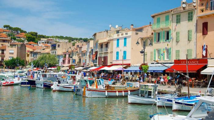 The fishing harbour of Cassis, near Marseille, France