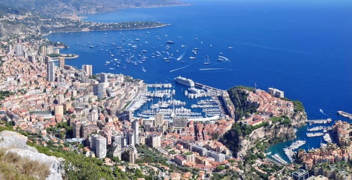 2016 Monaco Yacht Show aerial view