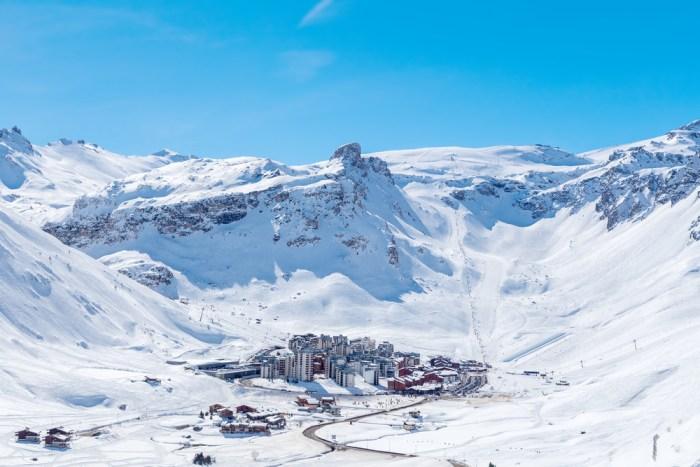 The ski resort of Tignes, France