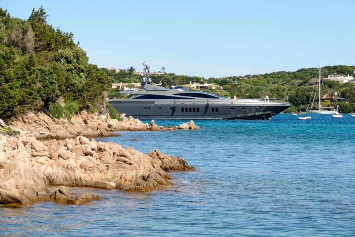 Luxury yacht in Porto Cervo, Sardinia