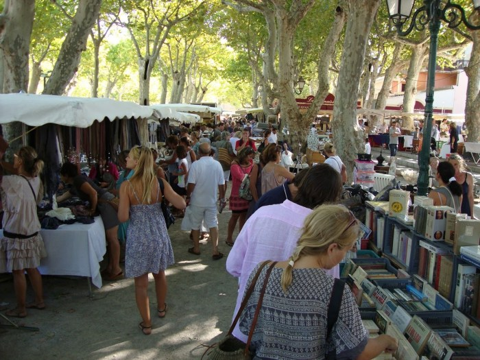 Market in Place des Lices, St Tropez