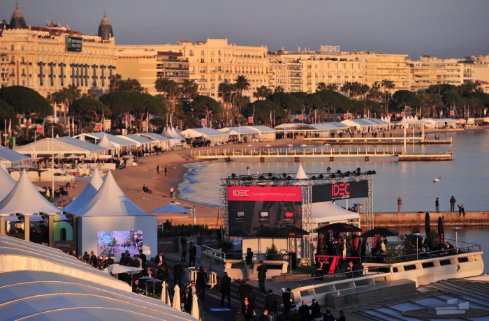 MIPIM events on the beach in Cannes