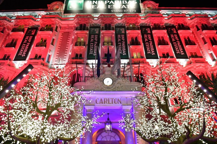 MIPIM party at the Carlton hotel in Cannes, France