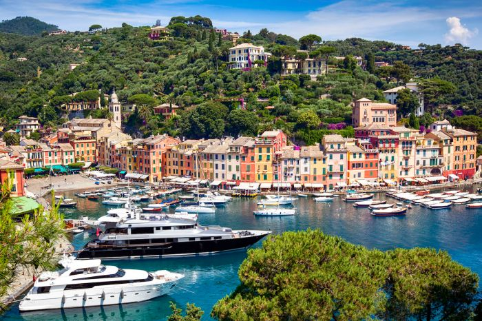 Superyachts in Portofino