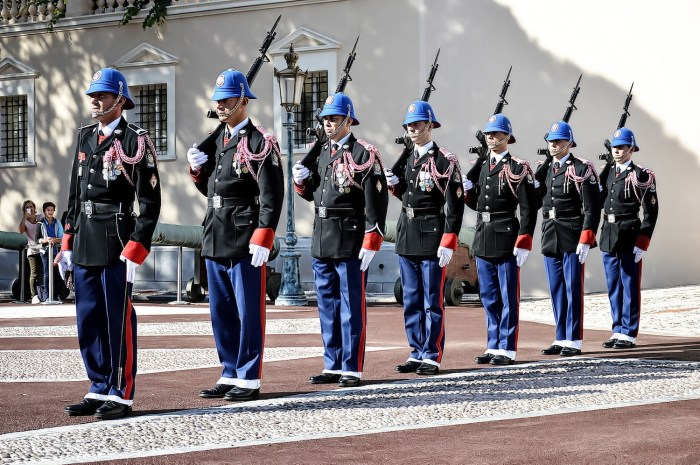 Guards at the Prince's Palace in Monaco