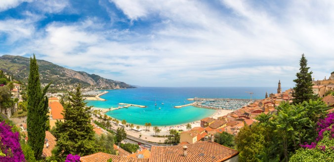 The bay of Menton in southern France