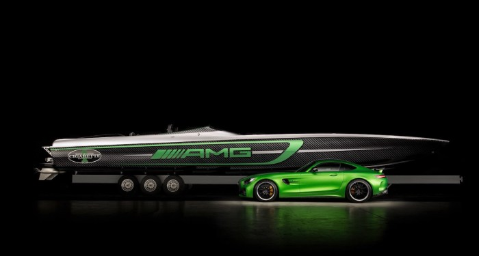 Mercedes-Benz and Cigarette Racing (50' Marauder AMG) boat