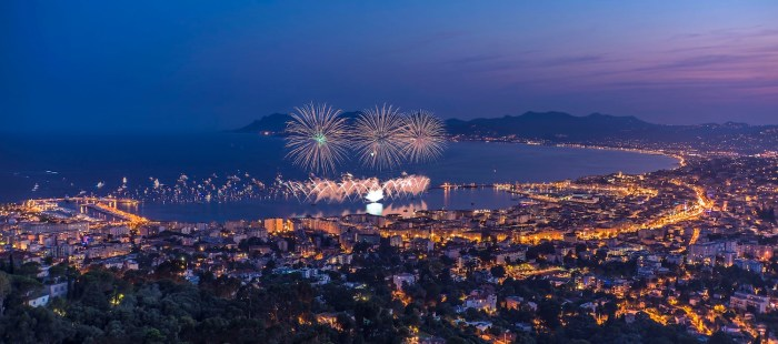 Fireworks in Cannes