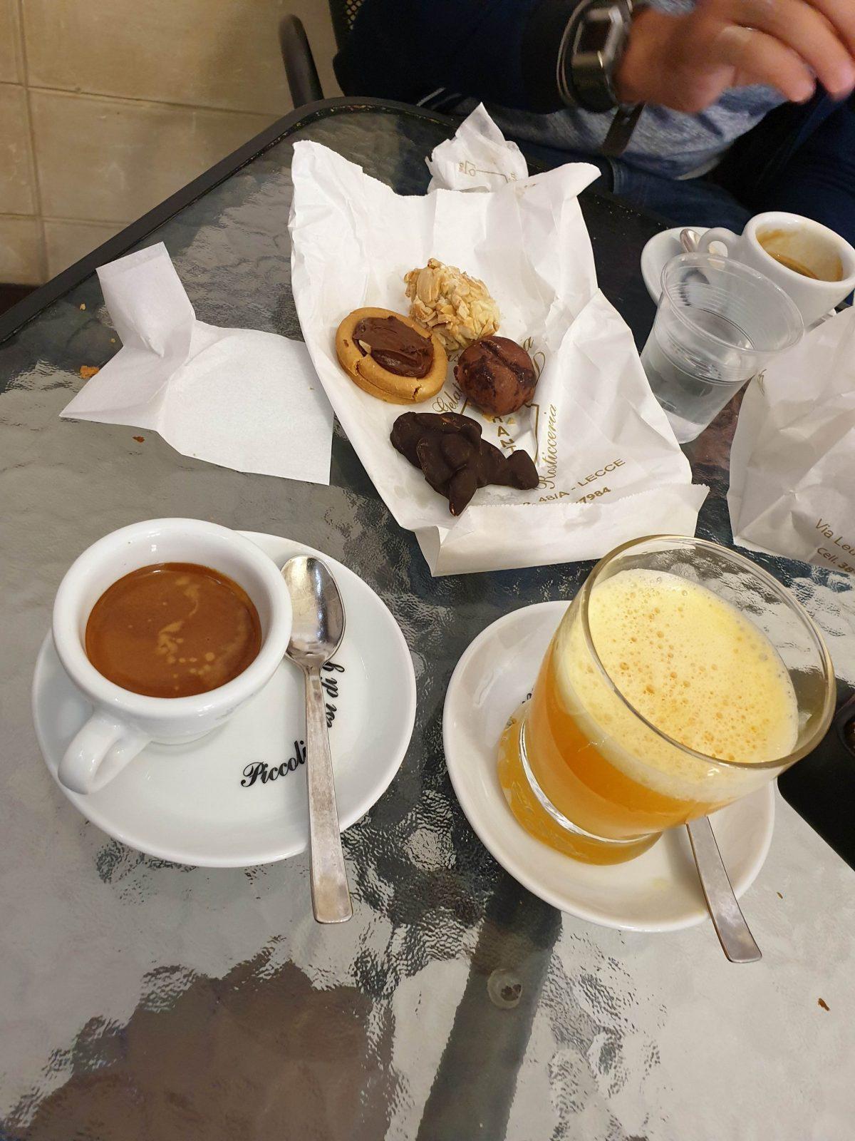 Petit déj, Lecce, Pouilles, Italie
