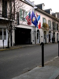 The Flags of New Orleans American, French, and others (maybe the flag of the city itself)