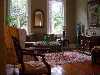Parlor of the Parkview Marigny on Washington Square in the Marigny Historic District, New Orleans, LA