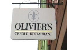 Classic Spiky Fleur de Lis Sign for Olivier's Restaurant New Orleans Lousianna