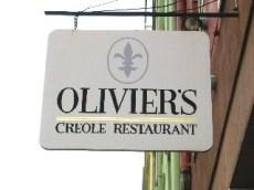 Classic Spiky Fleur de Lis Sign for Olivier's Restaurant New Orleans Lousianna
