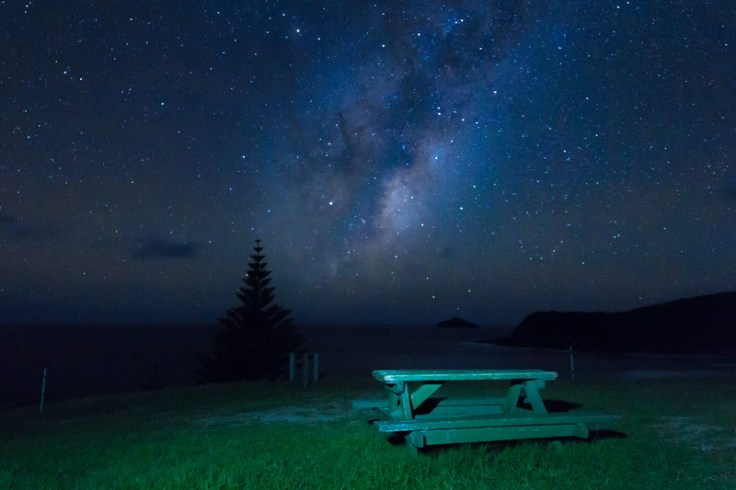 sweet night perfect moment picnic table