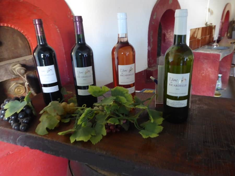 Wines at Ch Ricardelle - September 2017