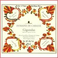 Domaine de Cabasse Rhone wine label