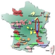 France map - Burgundy