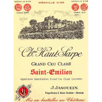 Ch Haut Sarpe wine label