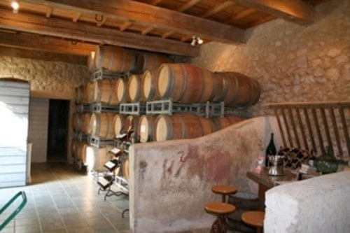 tasting room at Ch Haute-Fontaine