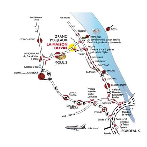 Moulis-en-Medoc map