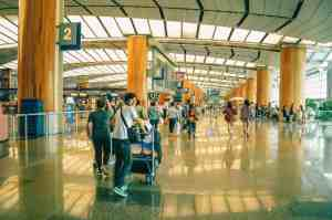 people standing inside airport