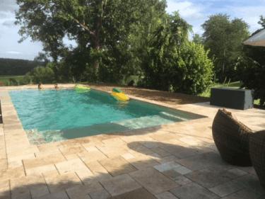 swimming pool at Chateau Le Noble