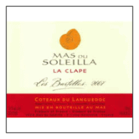 Mas du Soleilla wine label