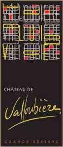 valloubiere wine label
