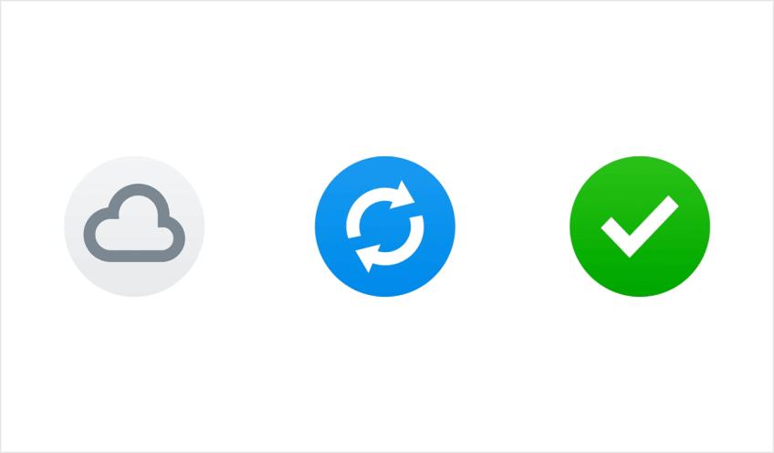 Icones de synchronisation