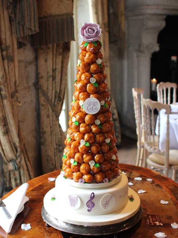 French Wedding Cake   Wedding Photography     french wedding cake      croquembouche with chocolate decorations      real