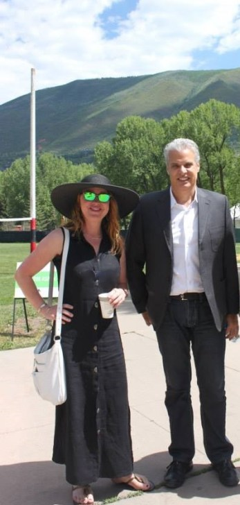 Simone and Eric Ripart at Aspen