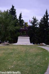 Statue à l'entrée du Fort
