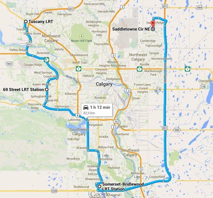 82 km au total quand même ! La ville est GRANDE