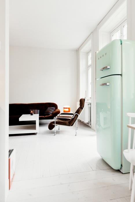 un frigo smeg pour une cuisine design