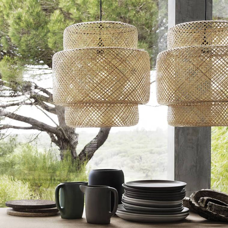 Tendance les suspensions en rotin frenchy fancy for Ikea pleine taille sommier