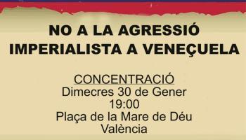 Concentración en Valencia en solidaridad con Venezuela